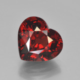 thumb image of 3.8ct Heart Facet Red Pyrope Garnet (ID: 452012)