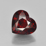 thumb image of 3.4ct Heart Facet Red Pyrope Garnet (ID: 452018)
