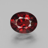 thumb image of 3.5ct Oval Facet Red Pyrope Garnet (ID: 452021)