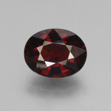 thumb image of 3.6ct Oval Facet Red Pyrope Garnet (ID: 452025)