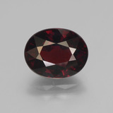 thumb image of 3.8ct Oval Facet Red Pyrope Garnet (ID: 452028)