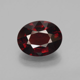 thumb image of 3.3ct Oval Facet Red Pyrope Garnet (ID: 452029)