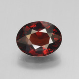 thumb image of 3.5ct Oval Facet Red Pyrope Garnet (ID: 452045)