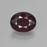 thumb image of 3.4ct Oval Facet Red Pyrope Garnet (ID: 452048)