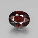 thumb image of 3.2ct Oval Facet Red Pyrope Garnet (ID: 452054)