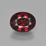 thumb image of 3.5ct Oval Facet Red Pyrope Garnet (ID: 452062)