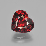 thumb image of 3.4ct Heart Facet Red Pyrope Garnet (ID: 452071)