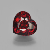 thumb image of 3.2ct Heart Facet Red Pyrope Garnet (ID: 452072)