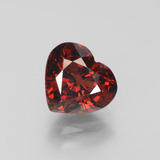 thumb image of 2.8ct Heart Facet Red Pyrope Garnet (ID: 452110)