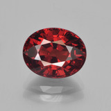 thumb image of 4.1ct Oval Facet Red Pyrope Garnet (ID: 452126)