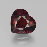 thumb image of 4.4ct Heart Facet Red Pyrope Garnet (ID: 452130)