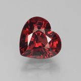 thumb image of 4ct Heart Facet Red Pyrope Garnet (ID: 452131)