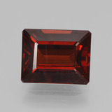 thumb image of 4.2ct Octagon Step Cut Red Pyrope Garnet (ID: 452640)