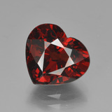 thumb image of 3.7ct Heart Facet Red Pyrope Garnet (ID: 452670)