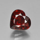 thumb image of 3.1ct Heart Facet Red Pyrope Garnet (ID: 452671)