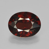 thumb image of 2.8ct Oval Facet Red Pyrope Garnet (ID: 452711)