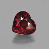 thumb image of 3.1ct Heart Facet Red Pyrope Garnet (ID: 452883)
