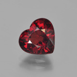 thumb image of 2.9ct Heart Facet Red Pyrope Garnet (ID: 452884)