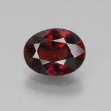 thumb image of 3.1ct Oval Facet Red Pyrope Garnet (ID: 452963)
