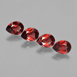 thumb image of 3.4ct Pear Facet Red Pyrope Garnet (ID: 453000)
