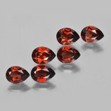 thumb image of 0.9ct Pear Facet Dark Red Pyrope Garnet (ID: 453054)