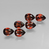 thumb image of 5ct Pear Facet Red Pyrope Garnet (ID: 453130)
