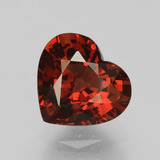 thumb image of 2ct Heart Facet Red Pyrope Garnet (ID: 456097)