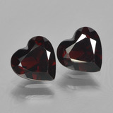 thumb image of 1.8ct Heart Facet Deep Red Pyrope Garnet (ID: 456124)
