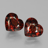 thumb image of 3.1ct Heart Facet Red Pyrope Garnet (ID: 456155)