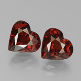 thumb image of 3.9ct Heart Facet Red Pyrope Garnet (ID: 456158)