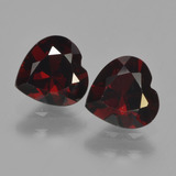 thumb image of 1.8ct Heart Facet Deep Red Pyrope Garnet (ID: 456186)
