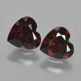 thumb image of 1.7ct Heart Facet Deep Red Pyrope Garnet (ID: 456187)