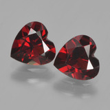 thumb image of 1.7ct Heart Facet Red Pyrope Garnet (ID: 456190)