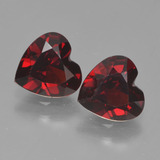 thumb image of 1.7ct Heart Facet Red Pyrope Garnet (ID: 456193)