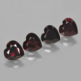 thumb image of 1ct Heart Facet Deep Red Pyrope Garnet (ID: 456280)