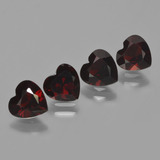 thumb image of 3.4ct Heart Facet Red Pyrope Garnet (ID: 456285)