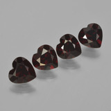 thumb image of 3.2ct Heart Facet Deep Red Pyrope Garnet (ID: 456290)