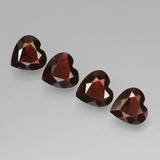 thumb image of 2.8ct Heart Facet Red Pyrope Garnet (ID: 456306)