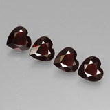 thumb image of 0.7ct Heart Facet Deep Red Pyrope Garnet (ID: 456307)