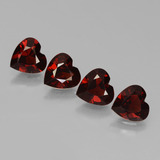 thumb image of 3ct Heart Facet Red Pyrope Garnet (ID: 456309)