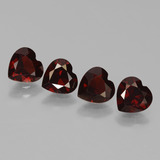 thumb image of 3.3ct Heart Facet Red Pyrope Garnet (ID: 456310)