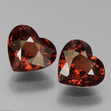 thumb image of 3ct Heart Facet Red Pyrope Garnet (ID: 456339)