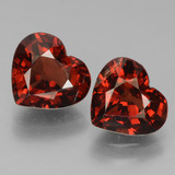 thumb image of 3.4ct Heart Facet Red Pyrope Garnet (ID: 456344)