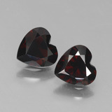 thumb image of 1.4ct Heart Facet Deep Red Pyrope Garnet (ID: 456391)