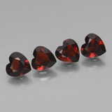 thumb image of 3.3ct Heart Facet Red Pyrope Garnet (ID: 456438)