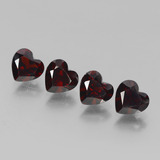 thumb image of 1ct Heart Facet Deep Red Pyrope Garnet (ID: 456441)