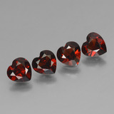 thumb image of 3.2ct Coeur facette Rouge Grenat Pyrope (ID: 456442)