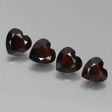 thumb image of 2.8ct Heart Facet Deep Red Pyrope Garnet (ID: 456443)