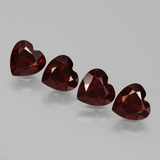 thumb image of 3.3ct Heart Facet Red Pyrope Garnet (ID: 456445)