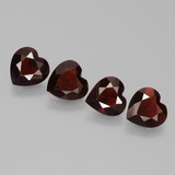 thumb image of 0.7ct Heart Facet Deep Red Pyrope Garnet (ID: 456446)
